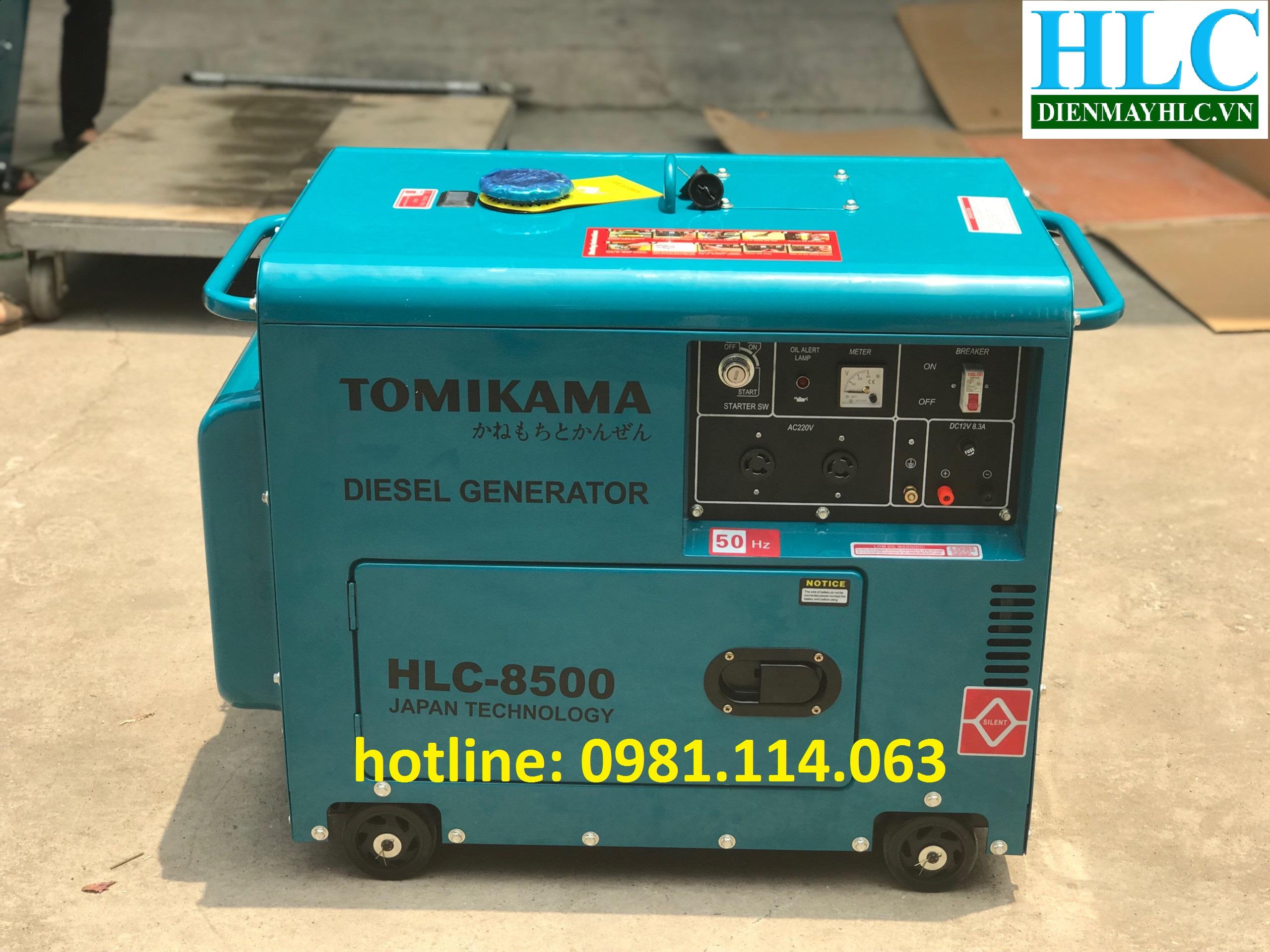 máy phát điện chạy dầu tomikama.